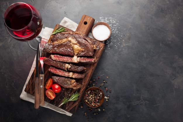 god vin til steak