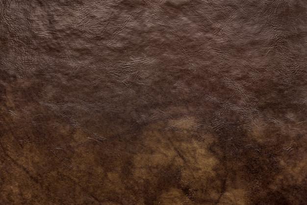 mørkebrunt læder