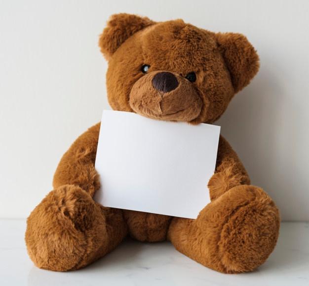 brun bamse til børn